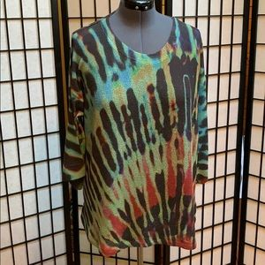 Nally and Millie Lightweight Tunic/Sweater 1X